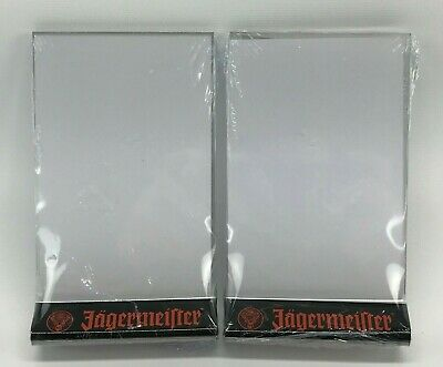 Lot of 2 JAGERMEISTER TABLE Top Two Sided Bar Display Sign Menu Holder - NEW