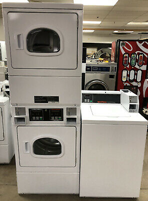 Speed Queen Commercial Top Load Washer & Double Stack Gas Dryer Coin Set