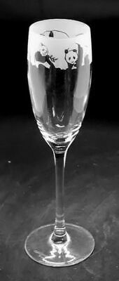 Panda Frieze Boxed 16cl Crystal Glass Champagne Flute