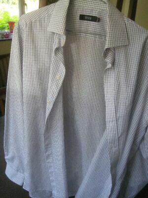 Marks and Spencer Blue Check  Shirt Size 16, Brand New, 180720
