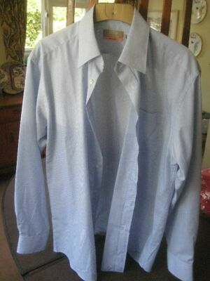 Marks and Spencer Blue Easycare  Shirt Size 16, Brand New, 180720