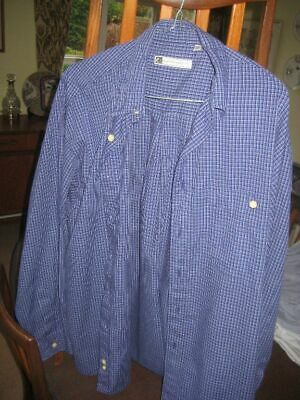 RI Men's Blue Long Sleeve Shirt Size Large, 1DEC19