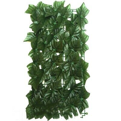 Faux Leaf Fence Screen Privacy Panel Garden Wall Hedge Decoration 25*50CM