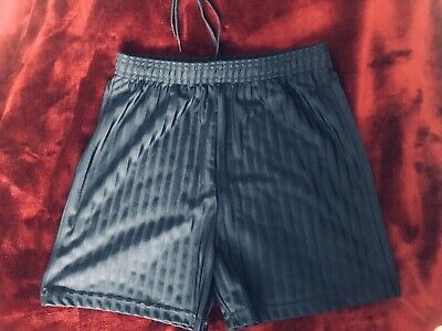 M&S Navy Blue PE Sports Shorts Age 9-10 Years Excellent Condition School Uniform