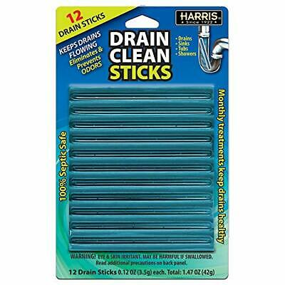 Harris Drain Clean Sticks, Drain Clog Remover and Odor Eliminator for Sinks, Tub