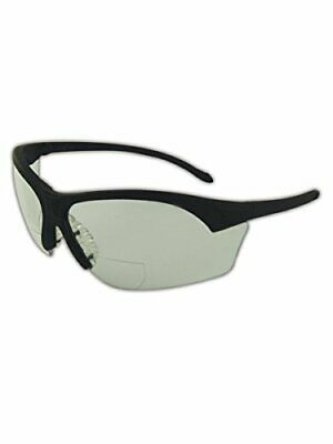 MAGID Safety Protective Reader Glasses Clear Lens and Black Frame 2.50 Diopte...