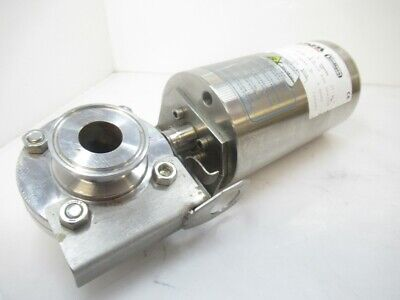 """Inoxpa  Tri Clamp Sanitary Butterfly Valve Pneumatic Actuator Sing 1.5"""" (Used"""