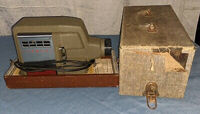 Vintage Tower Slide Projector with Case No. 6446 Sears