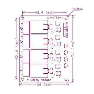 12V 4 Channel Relay Module with Optocoupler Relay Output for B5M3