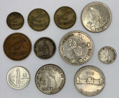 11 Coins from Guatemala, Some Silver