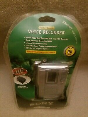 Sony TCM-210DV Handheld Cassette Voice Recorder New/Sealed*Read Description*