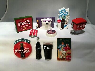 Vintage Coca Cola Coke Refrigerator Magnet Set 10 Pieces Frige Collection