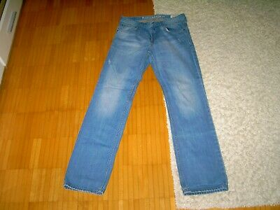 TOP Original Tom Tailor Herren Jeans Marvin Slim Hose Gr. 33/34 Denim Blue Kult