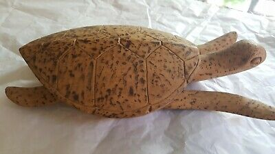 Artisan Handcrafted Solomon Islands Wooden Turtle 1960s VGC