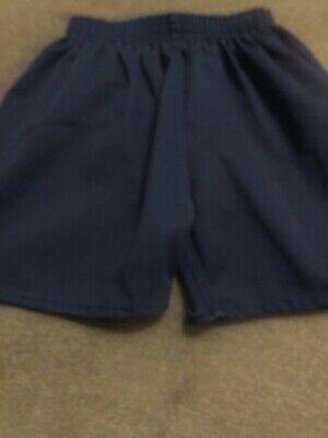 Blue unisex PE shorts aged 5-7 years
