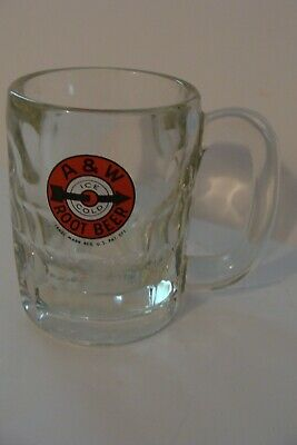 vintage A & W rootbeer 8 oz mug bullseye arrow logo 4.25 inches