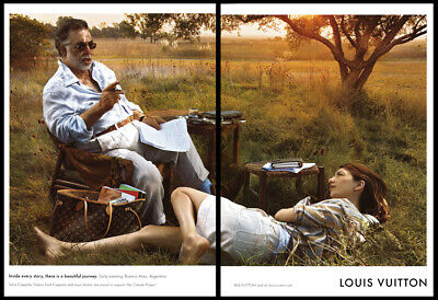 Francis Ford & Sophia Coppola 2-pg clipping 2008 ad for Louis Vuitton