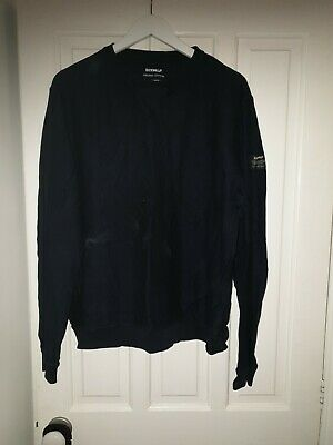 Mens Large Ecoalf Organic Cotton Navy Blue Jumper Pullover Eco Sweater L