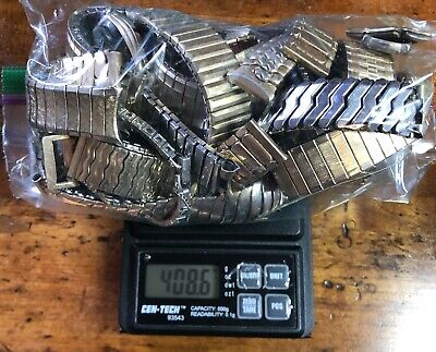 408.6 Grams GOLD FILLED LOT - Vintage Watch Bands Case Parts for Scrap Recovery