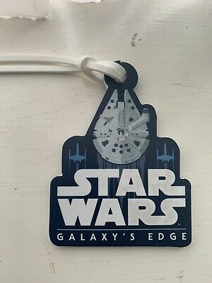 Star Wars Galaxys Edge Luggage Tag Set of 2 Millenium Falcon NEW
