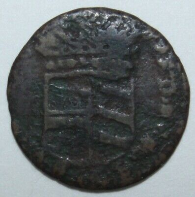 1740-44 (ND) copper Sesino of the Duchy of Parma and Piacenza abt 16mm 1-2grams