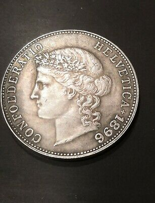 Coin 5 francs 1896 Switzerland