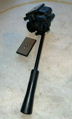 Slik 504QF-II Video Fluid Head Used Good Condition w/ spare quick release plate