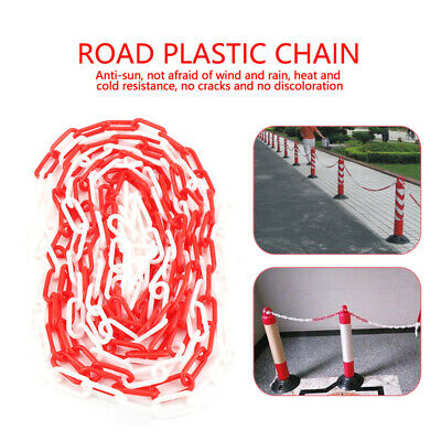 5M Plastic Barrier Chain Warning Road Block Parking Control Safety Decorative