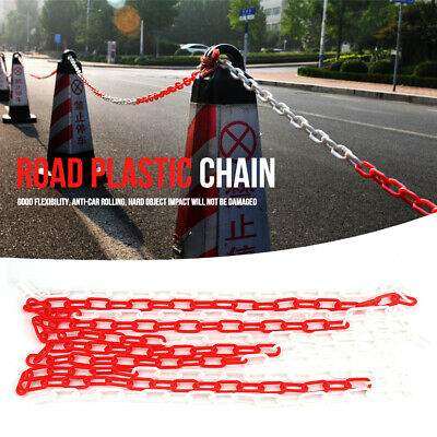 Plastic Warning Chain Traffic Chain Caution Safety Barrier Sign Chain 5 m Kit