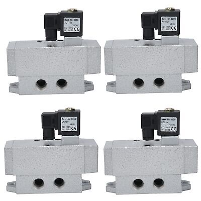 "Electric Solenoid Valve G1/2"" 2 Position 4 Way Single Control Directional Valve"