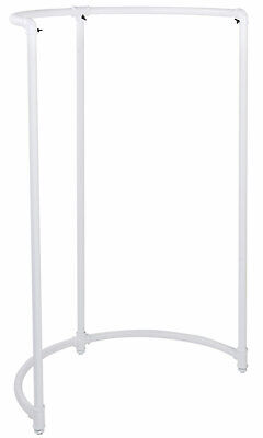 """Boutique White Pipe Half Round Clothing Rack - 35""""W x 35""""""""D x 54""""H"""