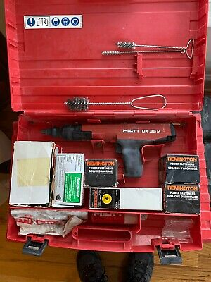 HILTI DX 36 M Powder Actuated Nail Stud Gun Fastening Tool w/case and Extras