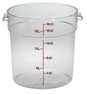 CAMBRO CARFSCW18135 Camwear® Round 18 Quart Clear Container