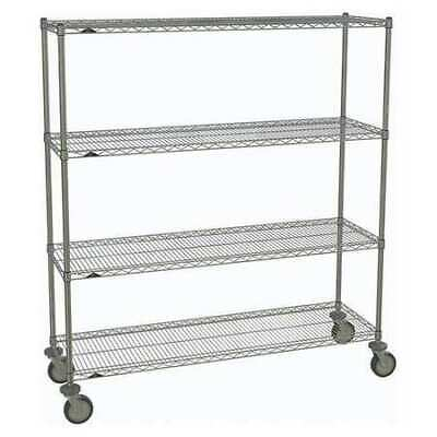 METRO 1860NC-4,63UP-4,5MP-4 Wire Cart,Chrome,69in.H x 60in.L,Silver