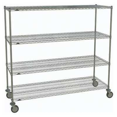 METRO 2472NC-4,63UP-4,5MP-4 Wire Cart,Chrome,69in.H x 72in.L,Silver