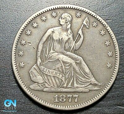 1877 P Seated Liberty Half Dollar  --  MAKE US AN OFFER!  #K3846