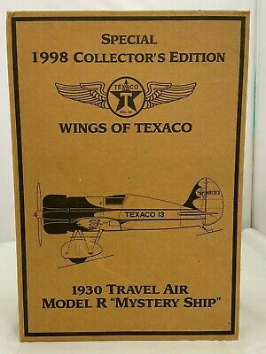 "1930 TRAVEL AIR MODEL R ""MYSTERY SHIP"" WINGS OF TEXACO 1998 Collectors Edition"