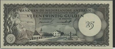 Netherlands Antilles  25 Gulden  2.1.1962 P 3a  Series  A Uncirculated banknote