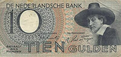 Netherlands  10  Gulden  21.2.1944  Series  3 CA  Circulated Banknote MeE10