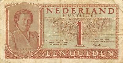 Netherlands  1  Gulden   8.8.1949   P 72  Series  3DN  Circulated Banknote ME3