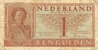 Netherlands  1  Gulden   8.8.1949   P 72  Series  3DX  Circulated Banknote ME3