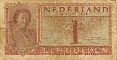 Netherlands  1  Gulden   8.8.1949   P 72  Series  4EL  Circulated Banknote ME3