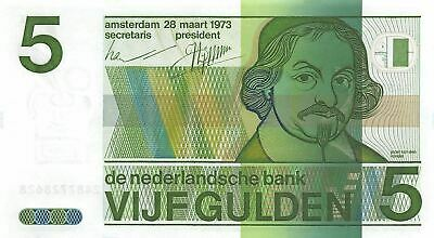 Netherlands 5 Gulden 28.3.1973  P 95a Uncirculated Banknote  G. WM2
