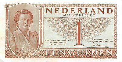 Netherlands  1  Gulden  8.8.199  Series 6AN  Circulated Banknote ME3