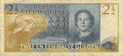 Netherlands N G  2 1/2 Gulden  8.12.1954 P 12a  Series EK Circulated Banknote FC