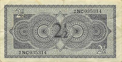 Netherlands  2 1/2  Gulden  8.8.1949  Series 2NG  Circulated Banknote JK