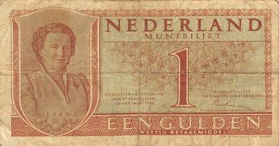 Netherlands  1  Gulden   8.8.1949   P 72  Series  1FZ  Circulated Banknote ME3