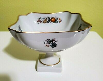 Antique French White /& Gold Porcelain Compote Cake Stand Pedestal Bowl Limoges