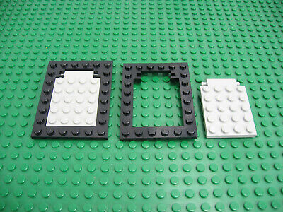 028-77 1 White 4x6 Trap Door Plate With Hinge Pegs 92099 Lego