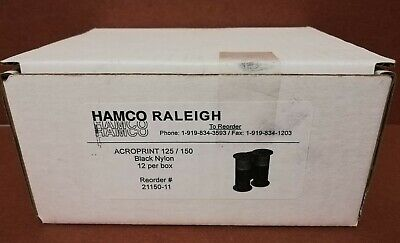 6-Pack OEM ACROPRINT Black Replacement Ribbons for Model 125 /& 150 Time Clocks